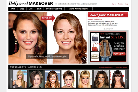 Hollywood Hair Virtual Makeover